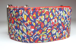 "Sighthound Collar in ""Leaves (Red)"""