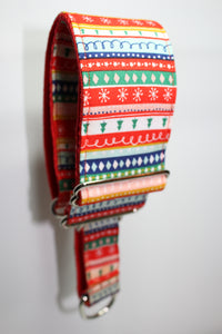"Sighthound Collar in ""Christmas Stripes"""