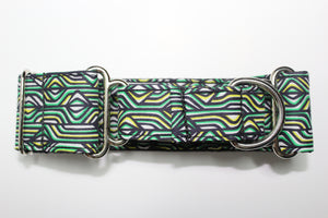 "Sighthound Collar in ""Deco (Green)"""