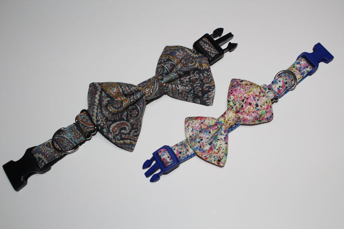 Luxury Bow Ties for Buckle Collars