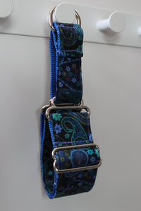 "Sighthound Collar in ""Blue Paisley"""