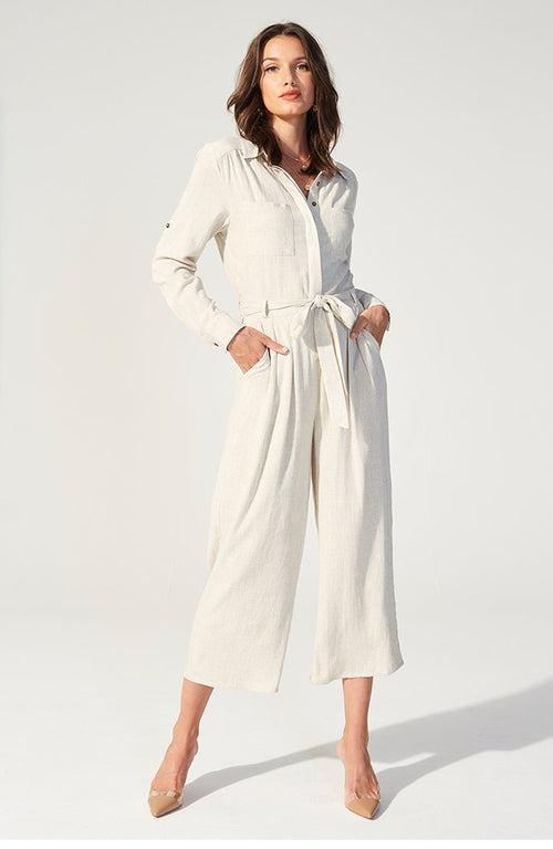 Linen Boilersuit | Natural