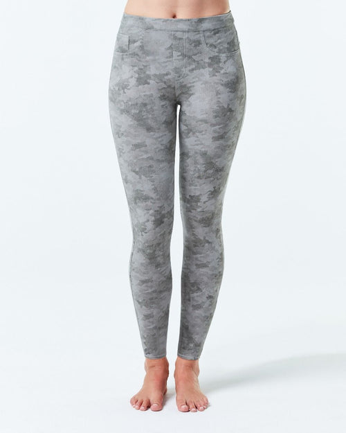 Jean-ish Ankle Leggings | Stone Wash Camo