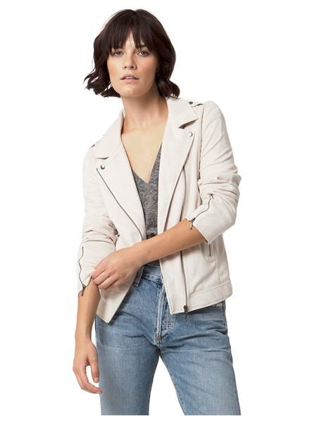 Vegan Moto Jacket | Magnolia White