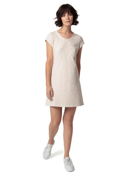 Vegan Tee Dress | Magnolia White