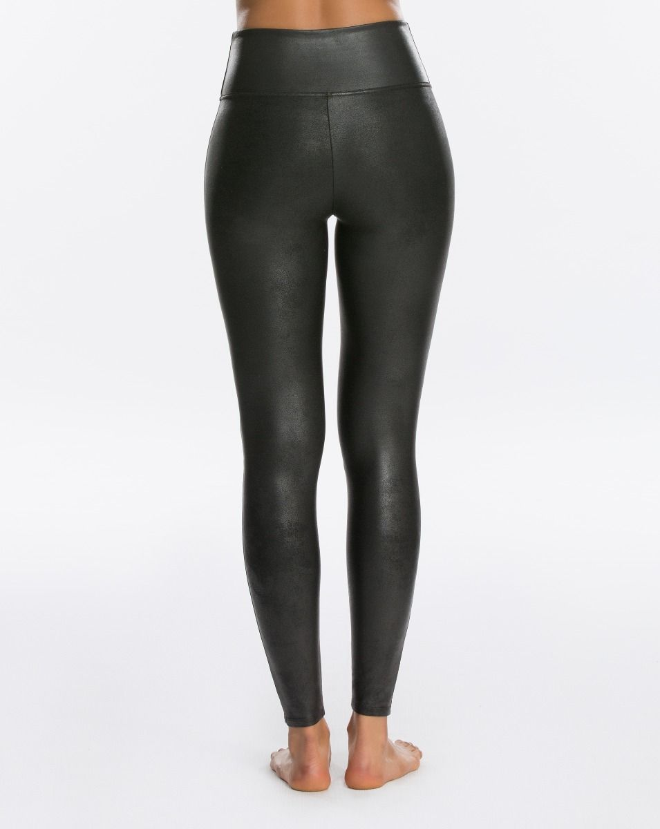 SPANX Faux Leather Leggings | Black