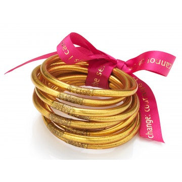 All Weather Gold Bangles - Serenity Prayer