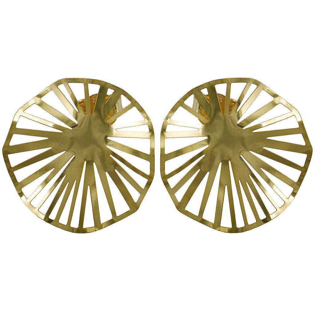 Sheila Fajl Weaved Stud | Gold