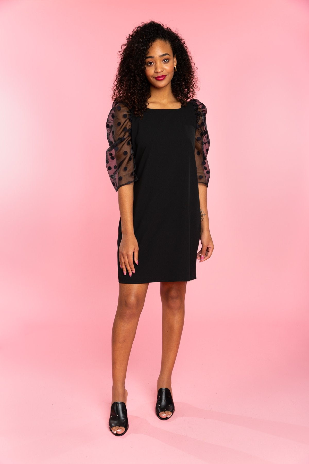Bexley Dress | Black Polka Dot