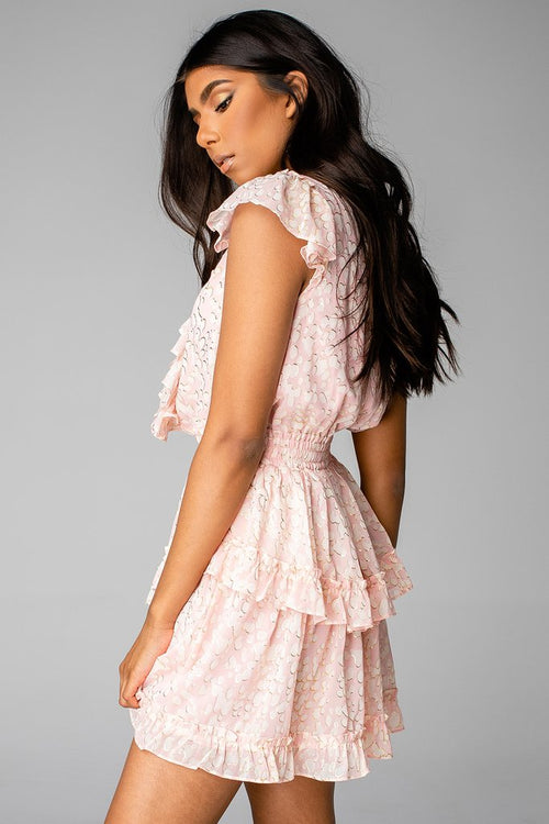 Astrid Ruffle Mini Dress | Bubble Bath