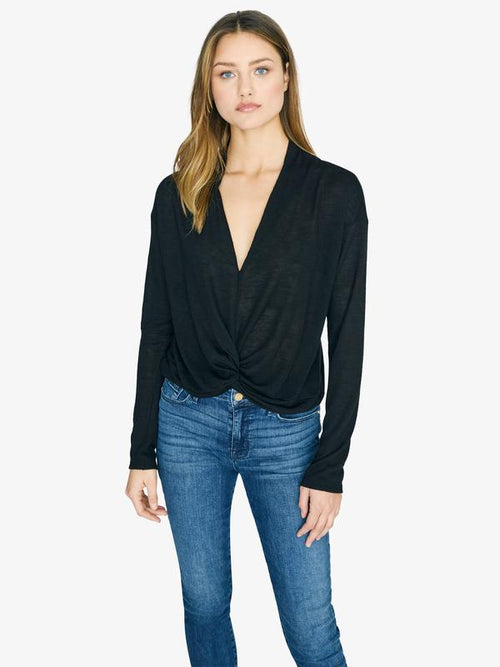 Knot Interested Top | Black