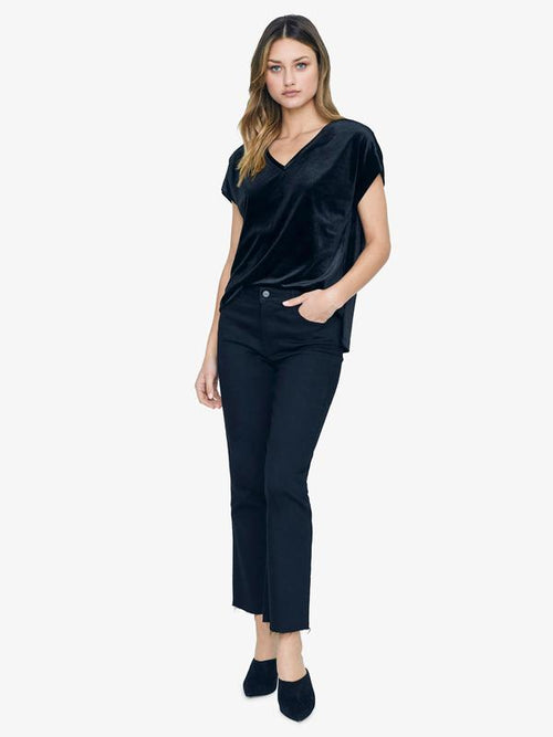 Cassia Hi-Lo Top | Black