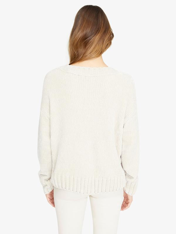 Chenille Cable Sweater | Moonstone