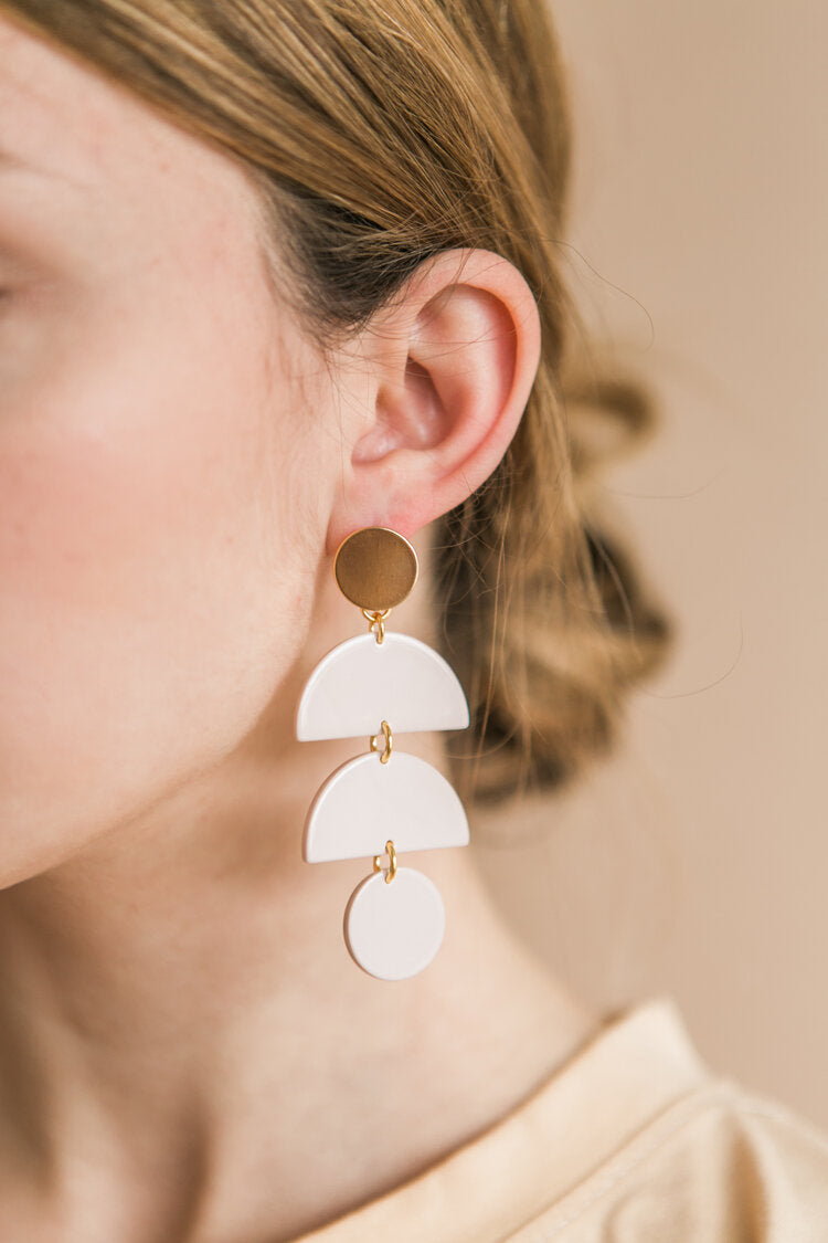 Waterfall Earrings | Glossy Bisque