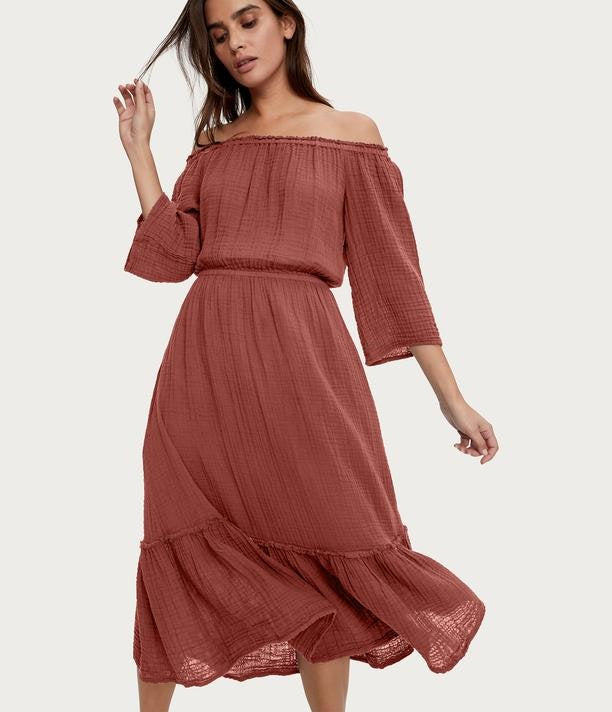 Anya Convertible Gauze Dress | Sienna