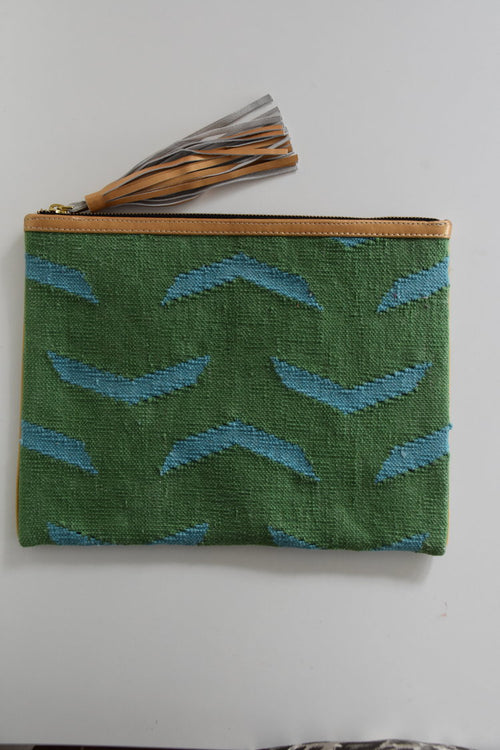 Fly Fly Away Clutch | Green & Blue