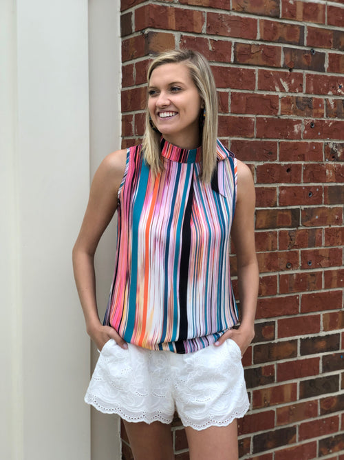 Woven Top | Vintage Stripes