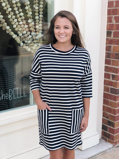 Striped Navy Dress