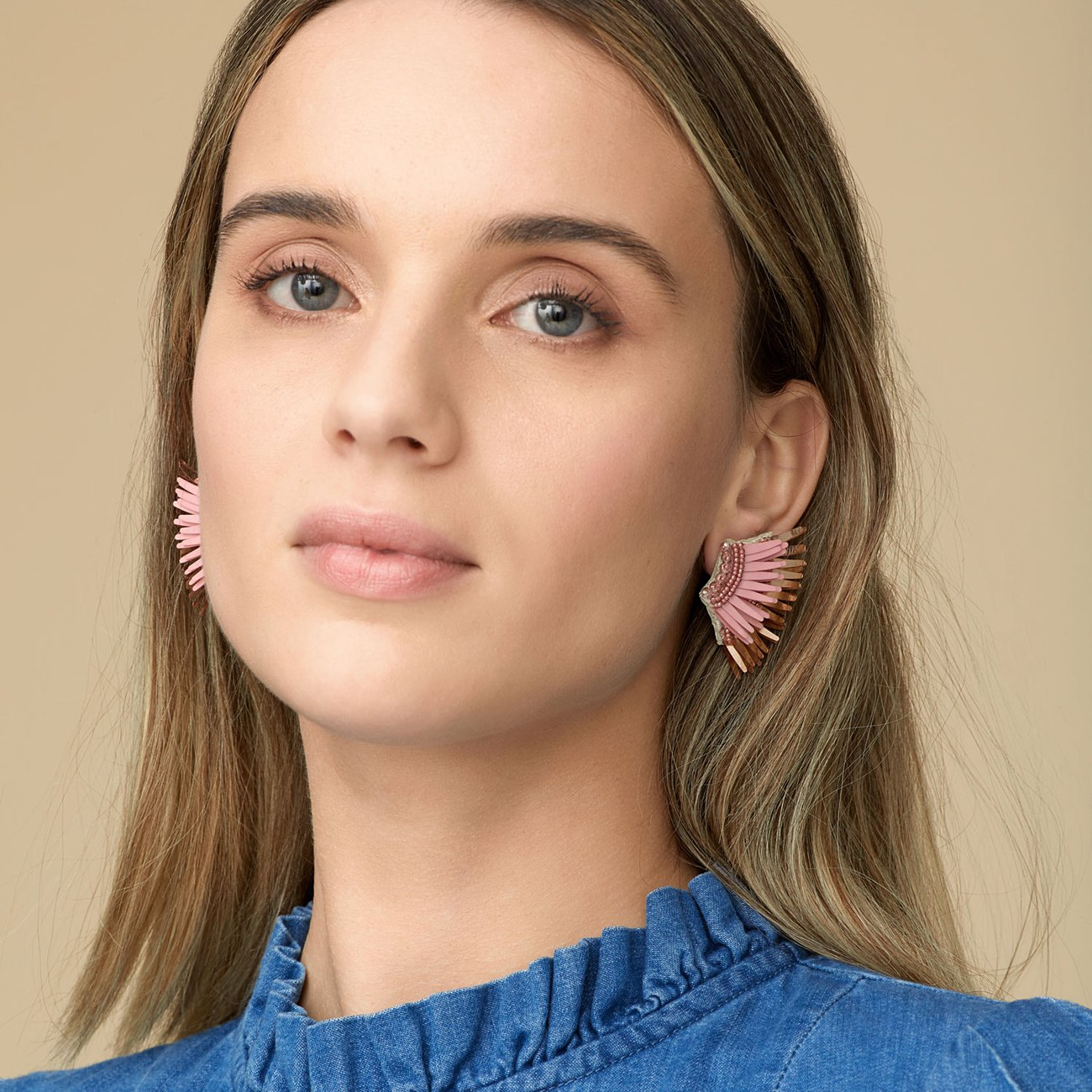 Mini Madeline Earrings | Blush+RoseGold