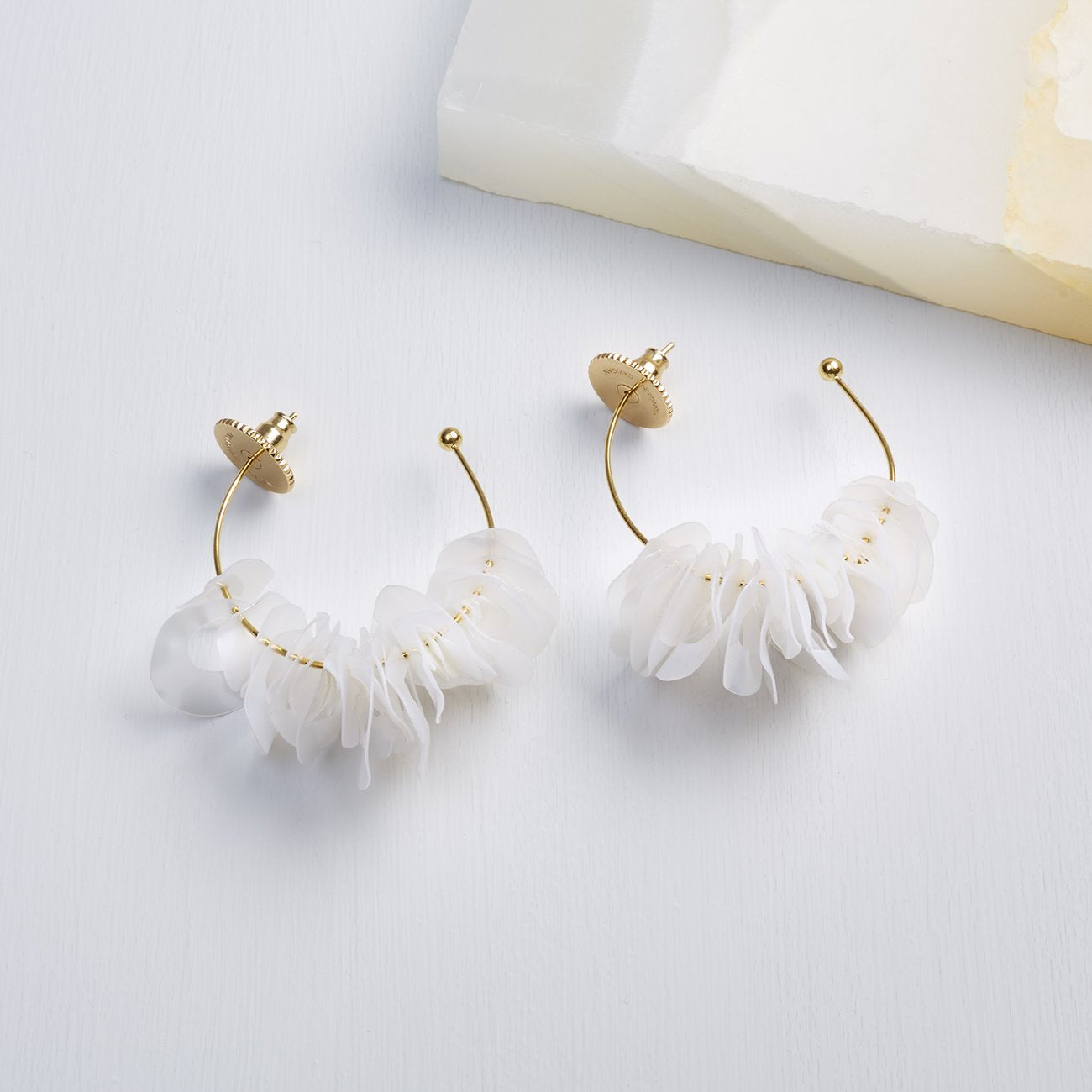 Lolita Mini Hoop Earrings | White