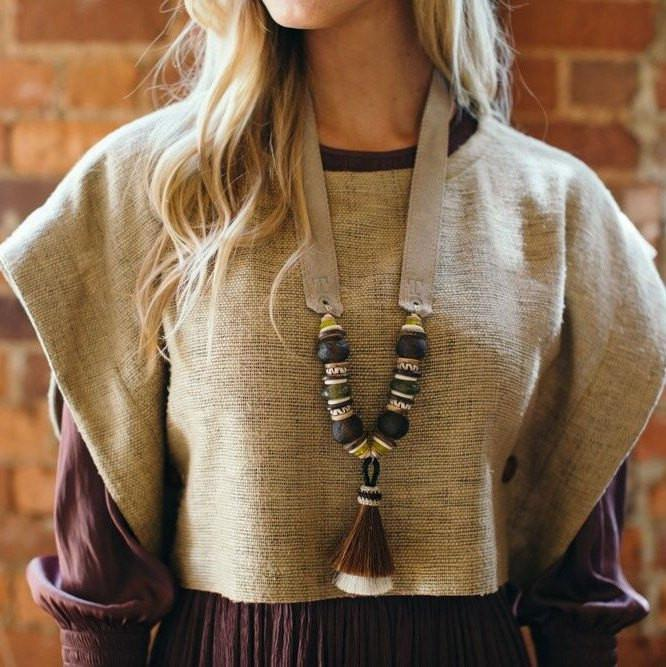 TRIPLE TASSEL HORSE HAIR NECKLACE | SIGNATURE
