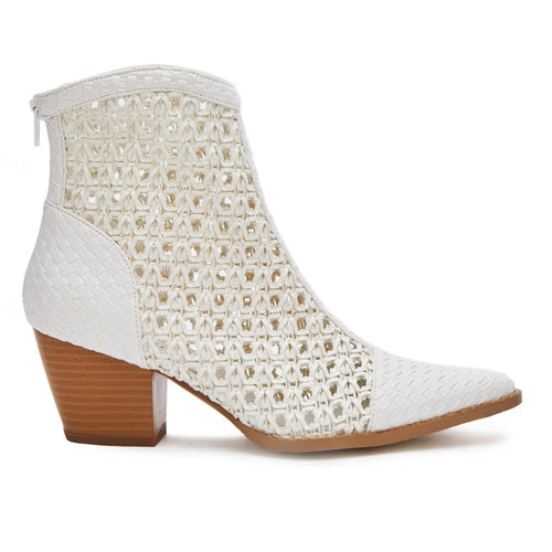 Caught Up Bootie | White