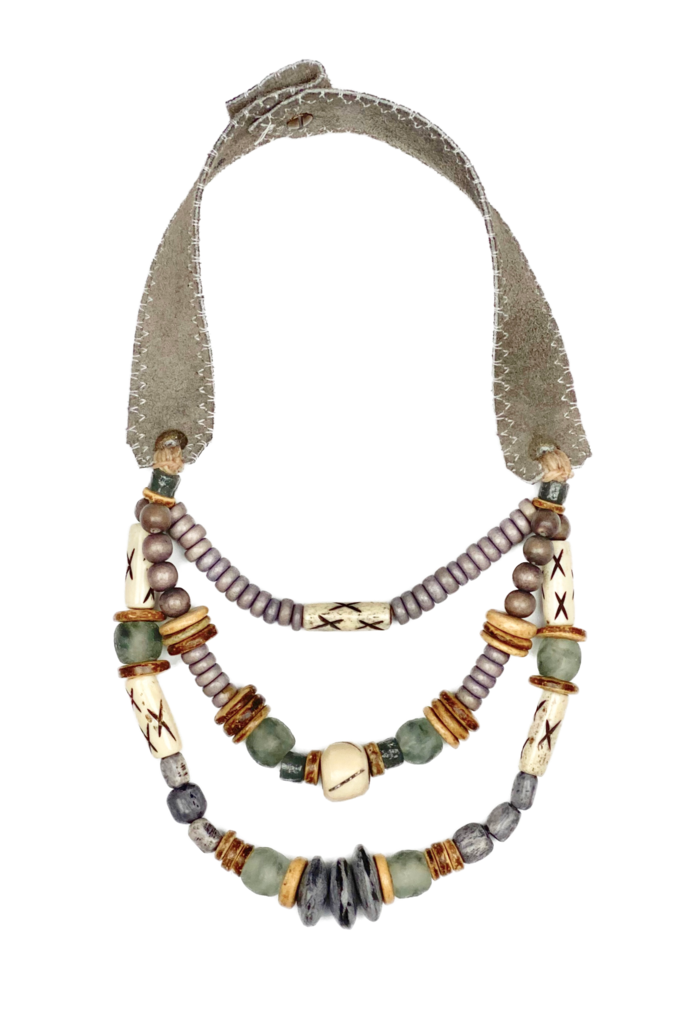 T&T Layered Classic Necklace | Gray