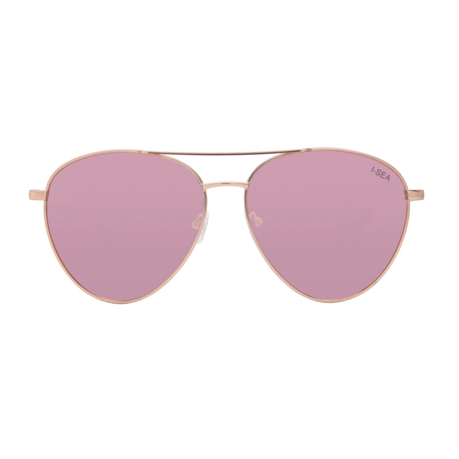 Charlie Sunglasses | Gold/Rose Gold Mirror Polarized