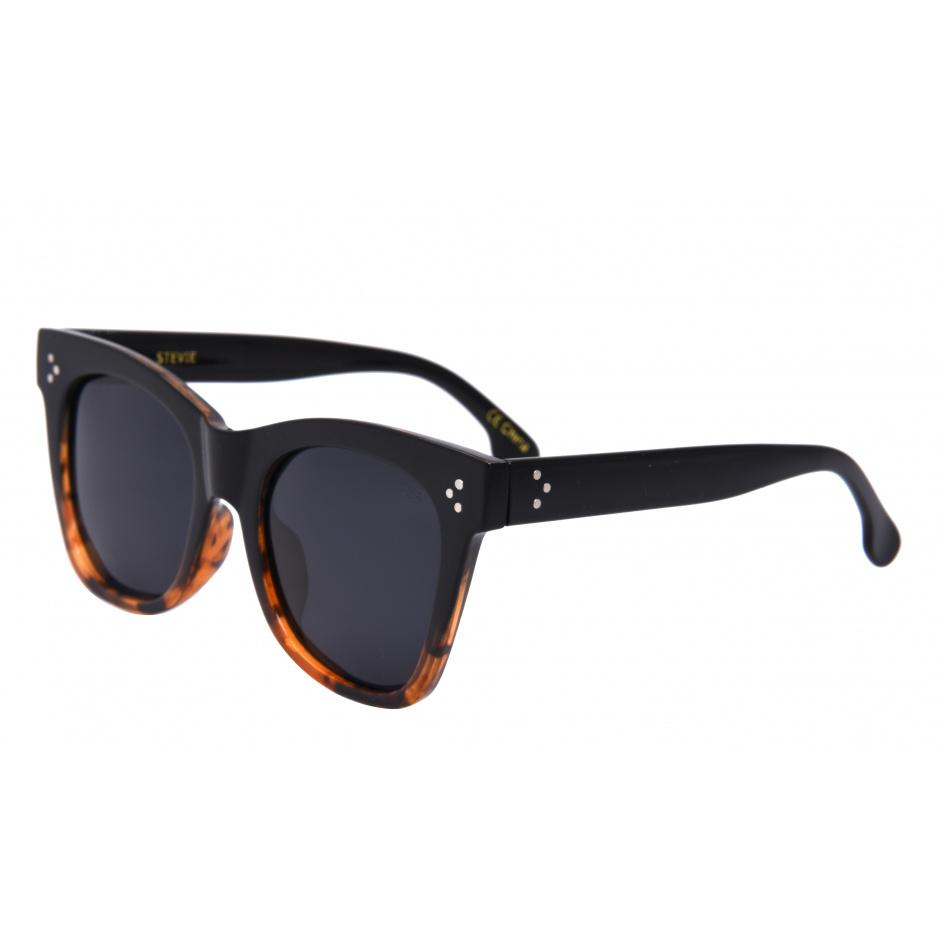 Stevie Sunglasses | Black Tortoise/Smoke Polarized