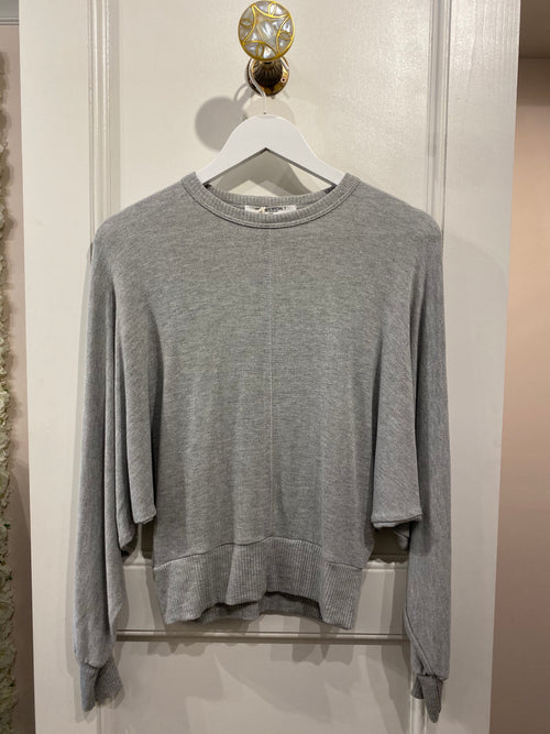 Knit Dolman Pullover | Grey or Black