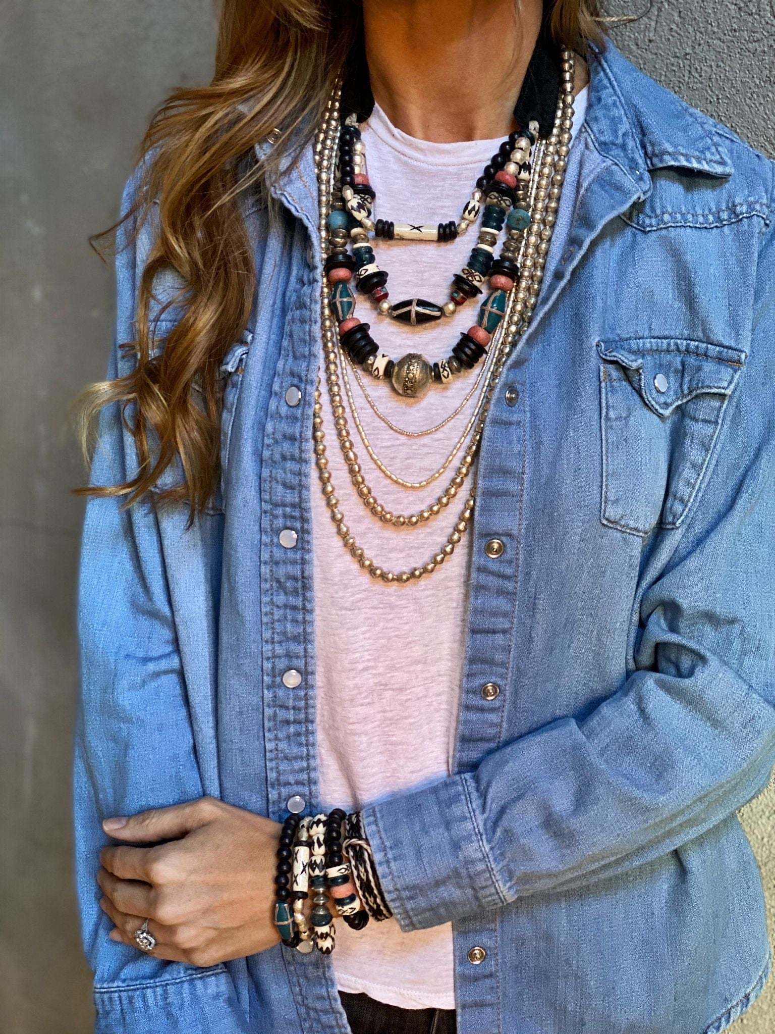 T&T Layered Classic Necklace | SouthWest
