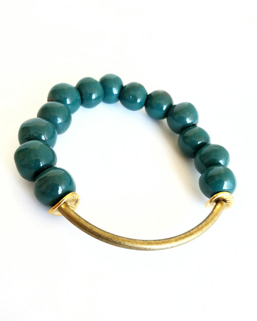 Buffy Clay Bracelet | Teal