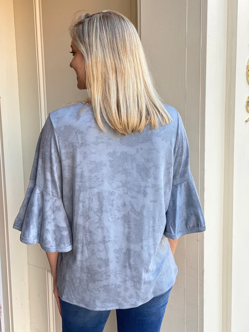 Tye Dye Top | Gray