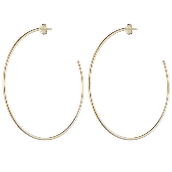 Jillian Hoop Earrings | Silver