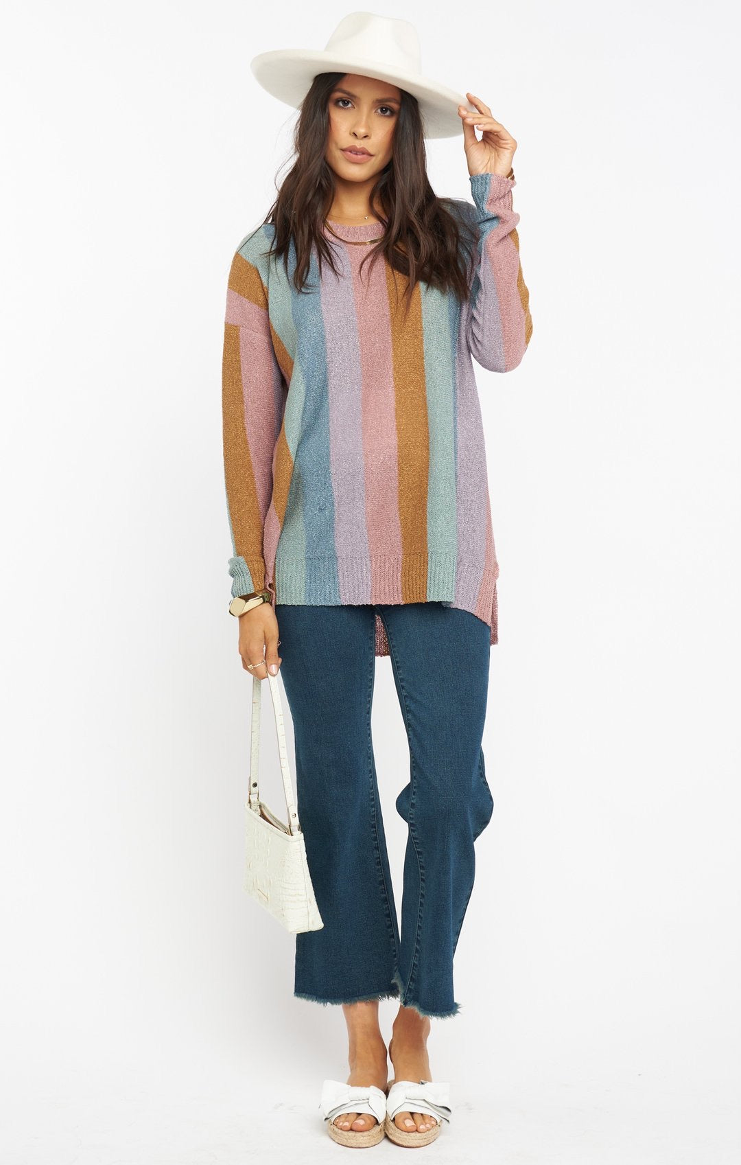 Elodie Sweater | Dusty Stripe Knit