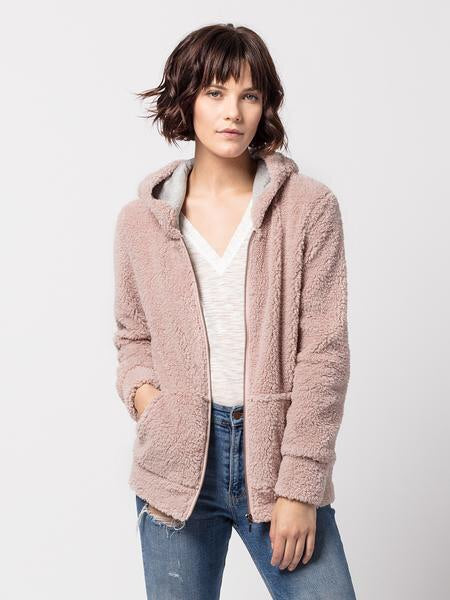 Teddy Luxe Hoody | Blush