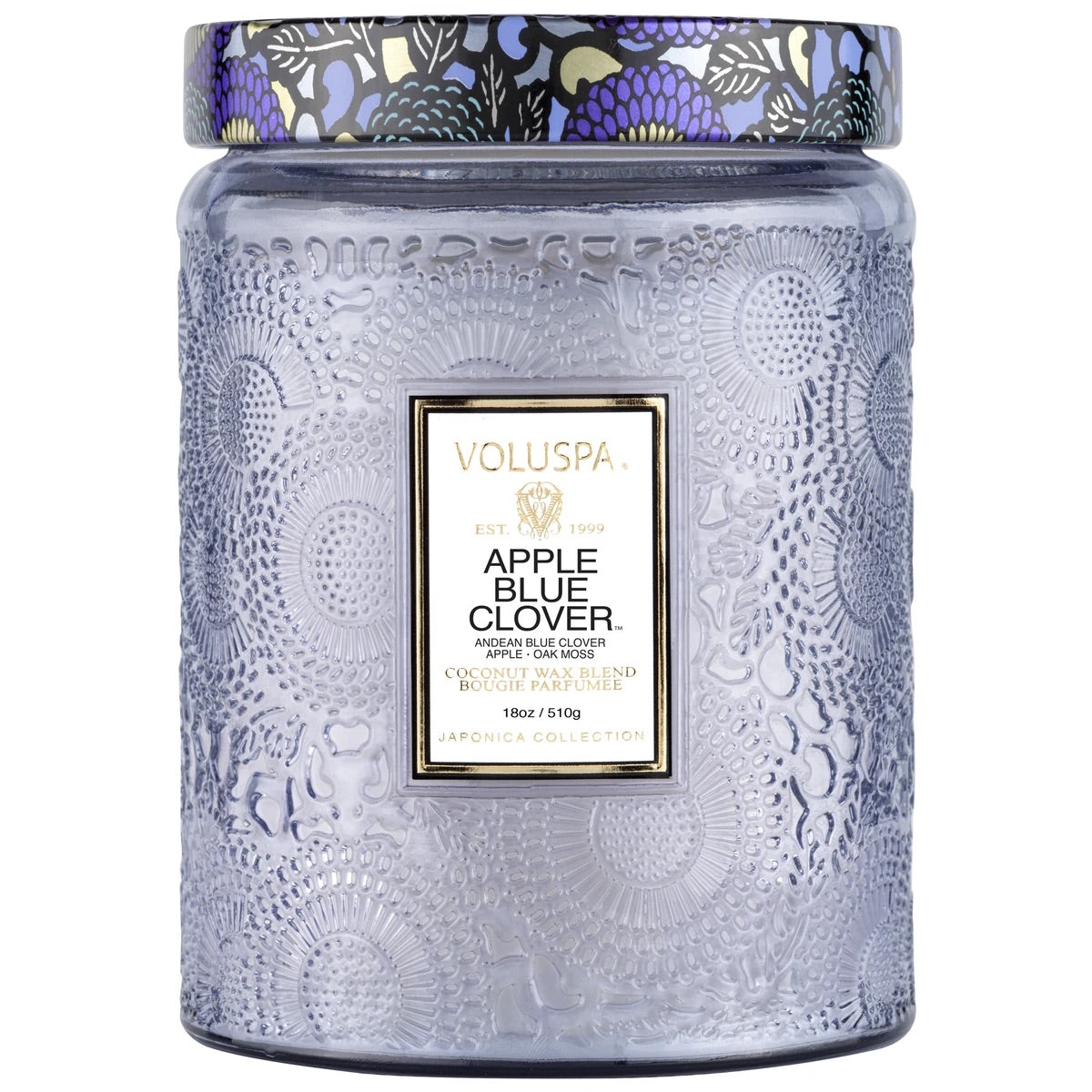 Apple Blue Clover | Large Jar Glass Candle