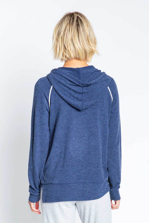 Heart Hoody | Navy