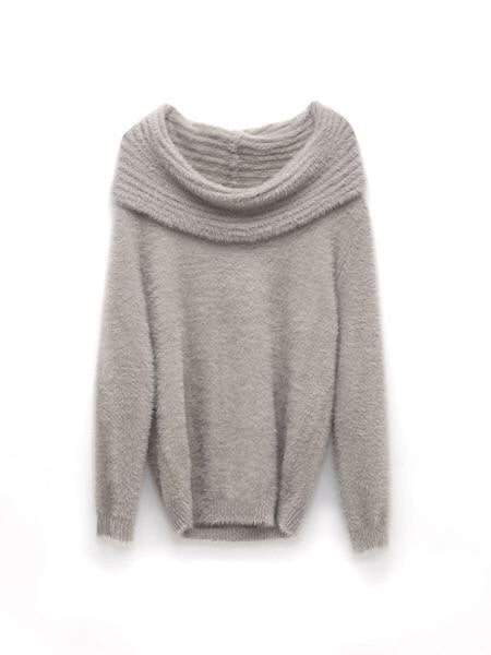 Gray Cozy Convertible Sweater
