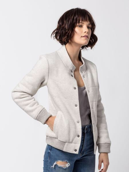 Tessa Soft Quilted Jacket | Gray