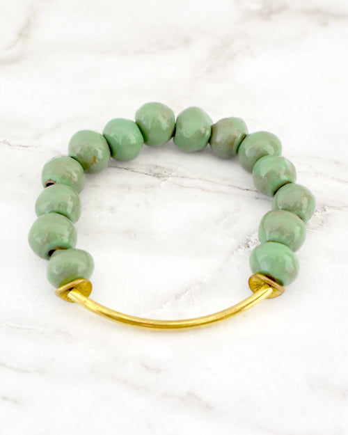 Buffy Clay Bracelet | Sea Green