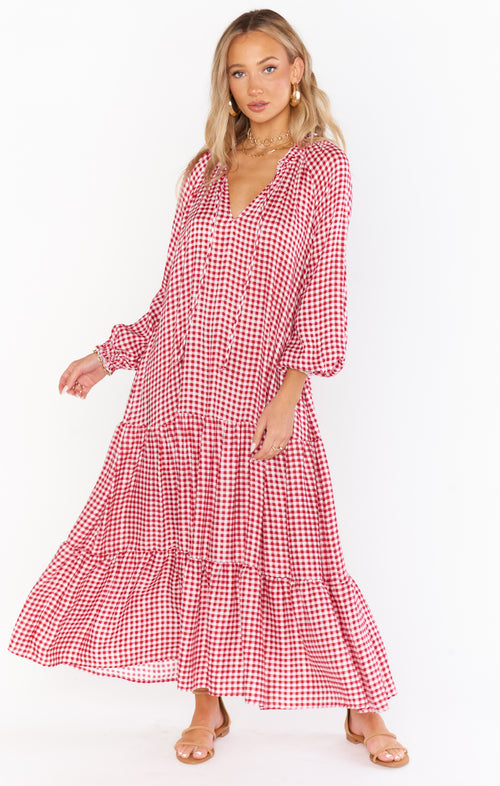 Birdie Maxi Dress | Cherry Pie Gingham