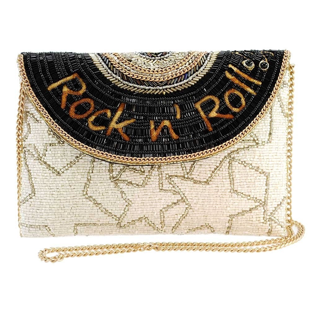 Rock N Roll Beaded Crossbody Handbag