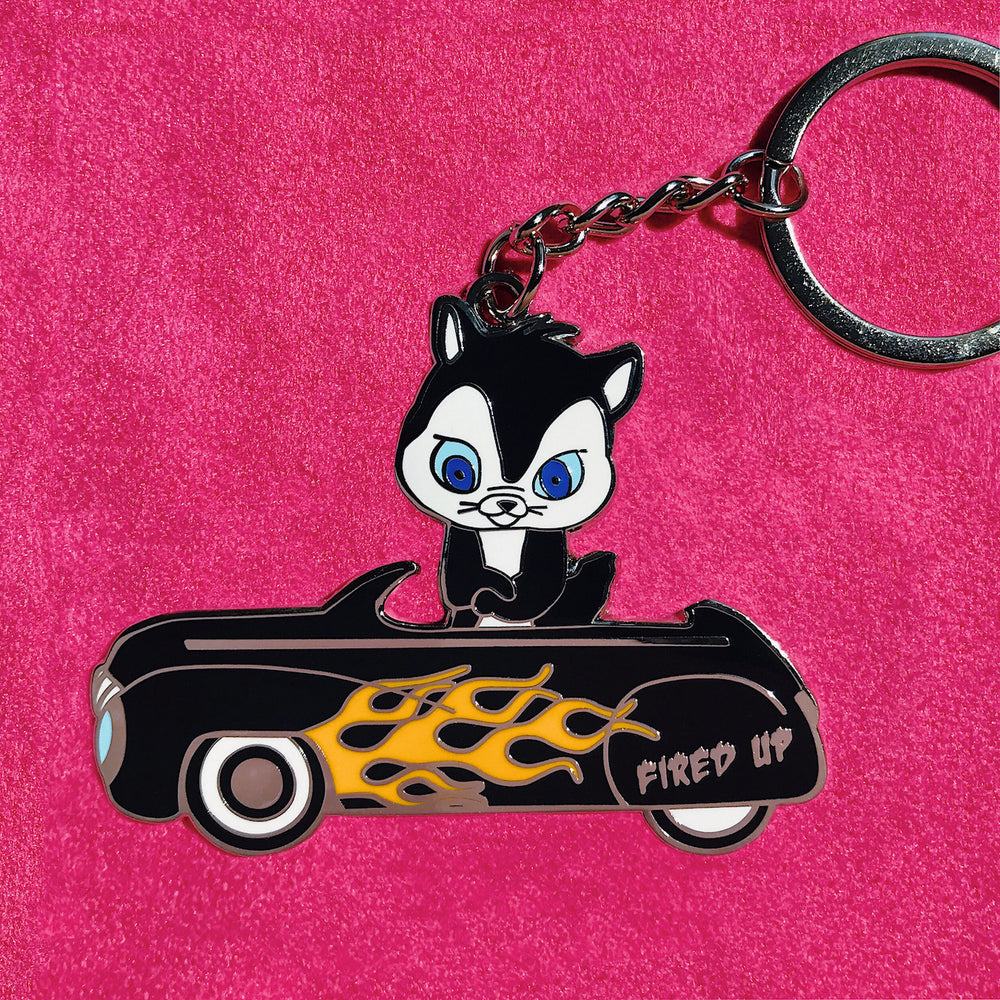 FIRED UP Keychain