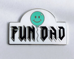 FUN DAD Pin - Silver/Blue