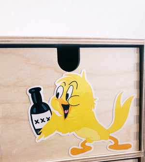 BOOZY BIRD Vinyl Sticker