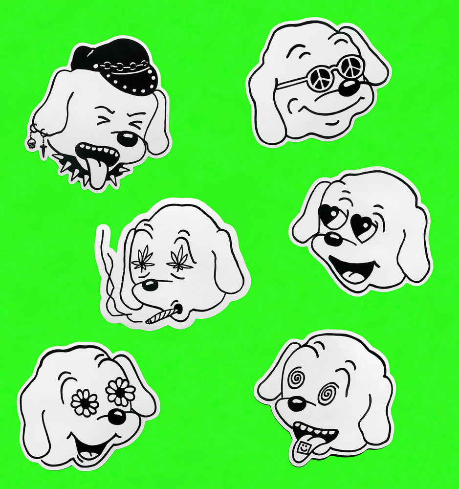 DOG DAZE Stickers