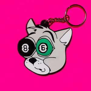 POOL BALL CAT Keychain
