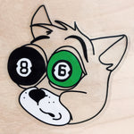 POOL BALL CAT Sticker