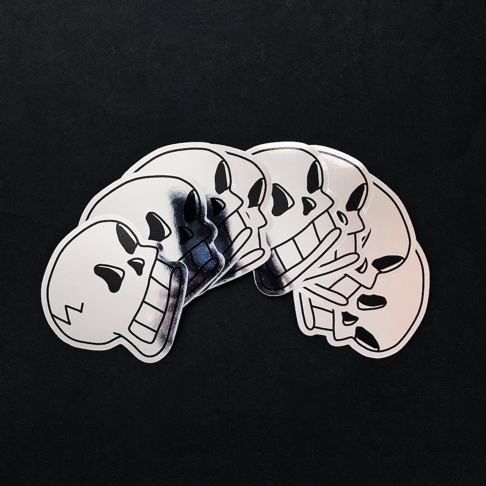 SKULL Mirror Stickers